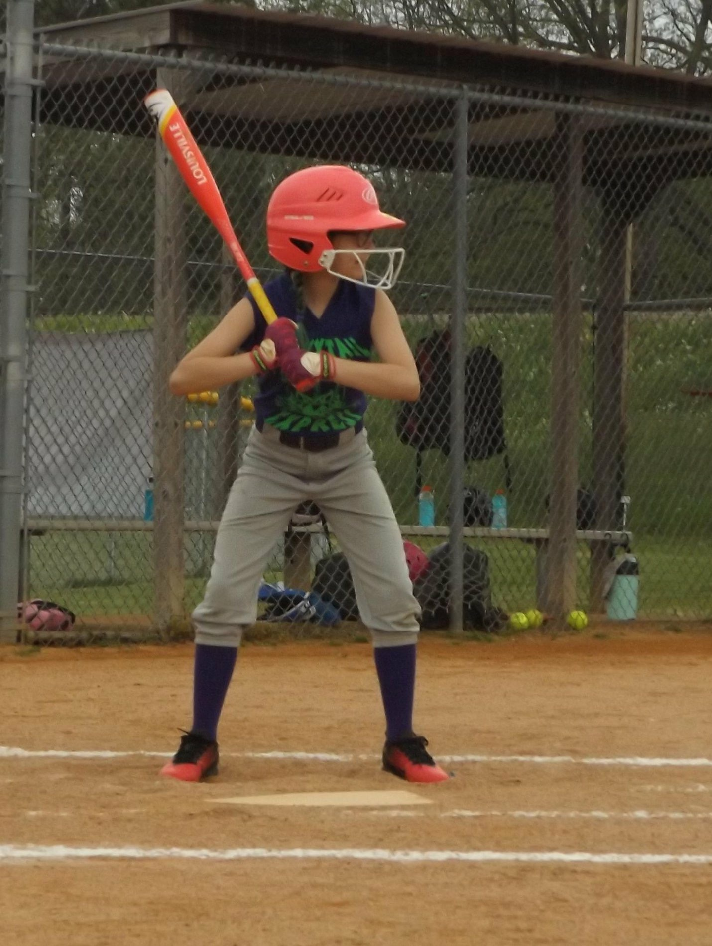 young baseball player ready to bat